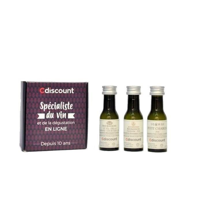 COFFRET CADEAU VIN Coffret 3 Vinottes de Vin Blanc de Bourgogne de 2