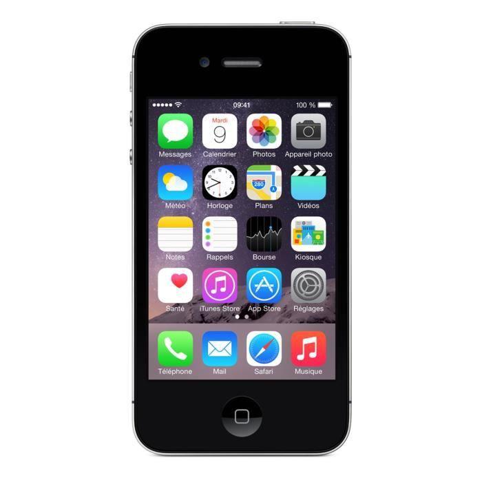 apple iphone 4s 8 go noir achat smartphone pas cher avis et meilleur prix soldes d s le 10. Black Bedroom Furniture Sets. Home Design Ideas