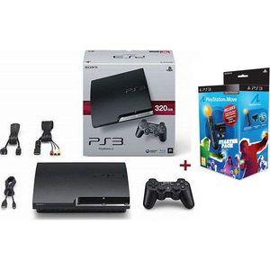 CONSOLE PS3 Console PS3 SLIM 320 Go+Pack Découverte PS Move