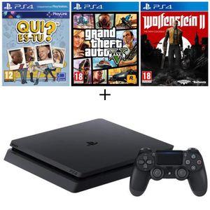 CONSOLE PS4 NOUVEAUTÉ Pack Nouvelle PS4 Slim 500 Go + Qui-es-tu ? (Jeu P
