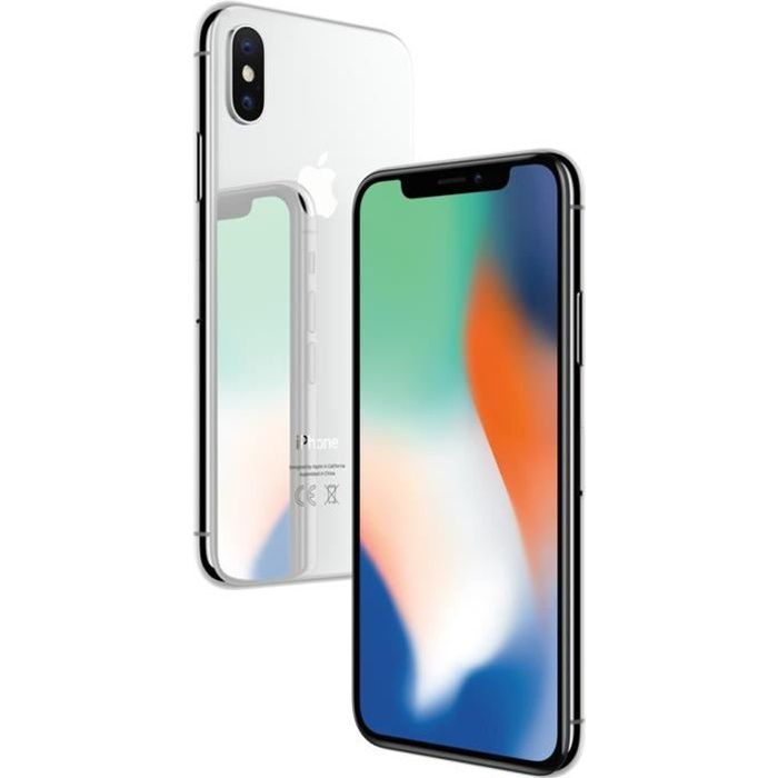 apple iphone x argent 64 go achat smartphone pas cher. Black Bedroom Furniture Sets. Home Design Ideas