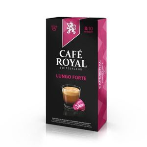 CAFÉ Lot de 50 capsules Café Royal Lungo Forte Capsules