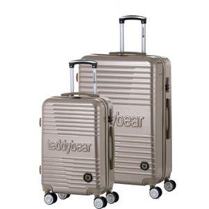 SET DE VALISES TEDDY BEAR Ensemble de 2 valises rigides: Cabine e