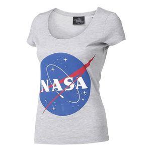 T-SHIRT NASA T-shirt Gris et Bleu Roi Femme