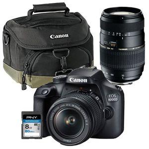 APPAREIL PHOTO RÉFLEX CANON EOS 4000D Appareil photo Reflex 18 MP + Obje