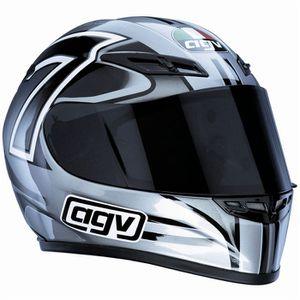 CASQUE MOTO SCOOTER AGV GP-Tech Seven Gun Metal/Black/White