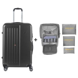 VALISE - BAGAGE TRAVEL WORLD Valise grande taille 75cm + 6 organis