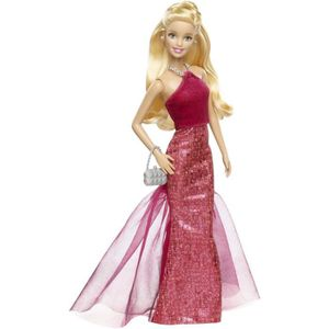 Prix barbie robe rouge