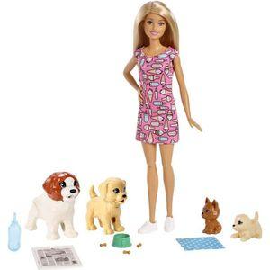 POUPÉE BARBIE - Barbie & ses Chiens - Coffret Poupée - Co