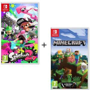 JEU NINTENDO SWITCH Pack 2 jeux Switch : Splatoon 2 + Minecraft