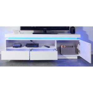 meuble tv blanc laque achat vente meuble tv blanc laque pas cher black friday le 24 11. Black Bedroom Furniture Sets. Home Design Ideas