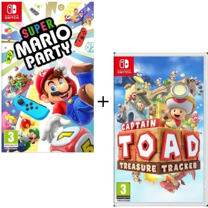 JEU NINTENDO SWITCH Pack 2 jeux Switch : Captain Toad Treasure Tracker