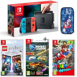 CONSOLE NINTENDO SWITCH Pack Nintendo Switch Néon + Lego Harry Potter + Ro