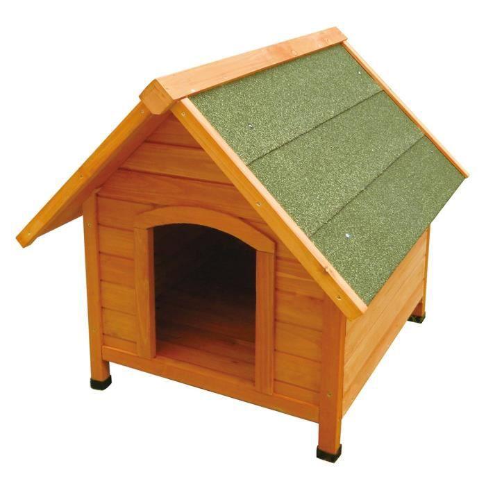 niche en sapin whoop0 bois pour chien 72x76x76cm. Black Bedroom Furniture Sets. Home Design Ideas