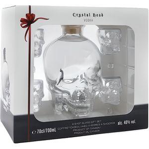 VODKA Crystal Head Vodka 40% 70cl - Coffret 4 verres sho