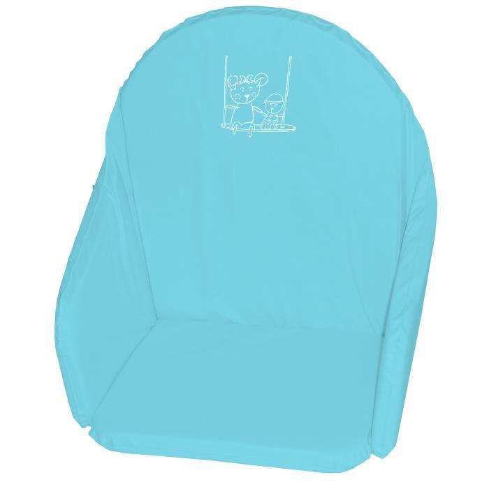 CHAISE HAUTE  Looping Coussin Chaise Haute Bleu Lagon