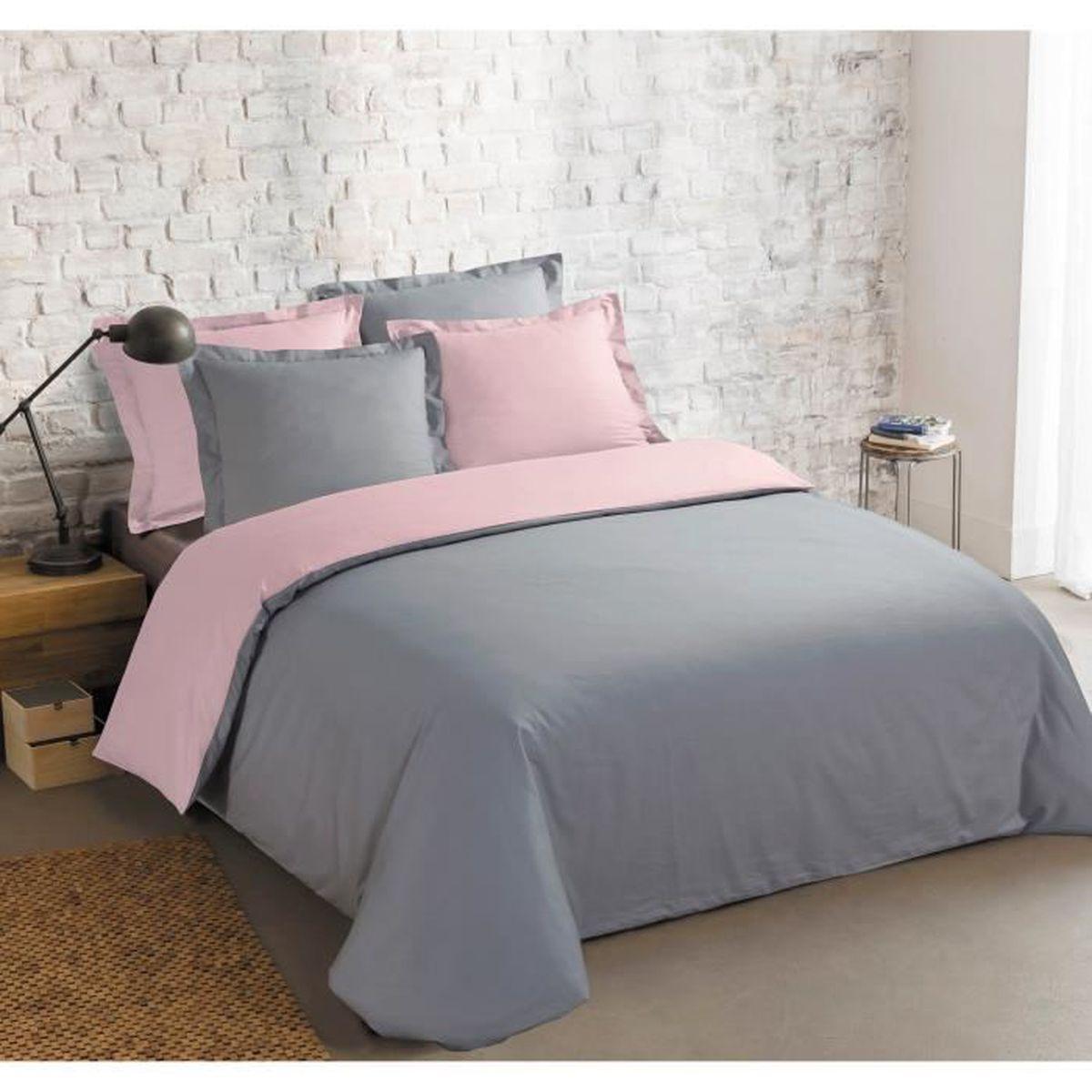 housse de couette gris affordable housse de couette gris. Black Bedroom Furniture Sets. Home Design Ideas