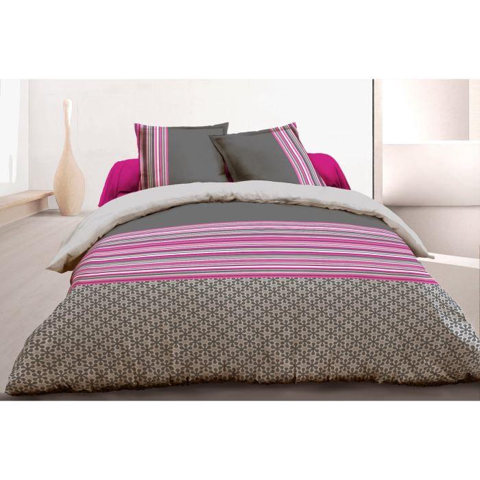 vision parure de couette trefle 100 coton 1 housse de. Black Bedroom Furniture Sets. Home Design Ideas