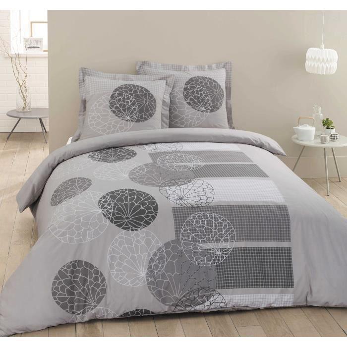 vision parure de couette adele 100 coton 1 housse de. Black Bedroom Furniture Sets. Home Design Ideas