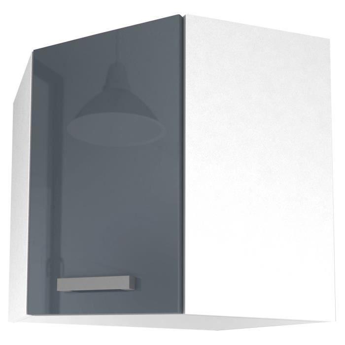 START Meuble de cuisine haut d\'angle L 58 cm - Gris brillant - Achat ...