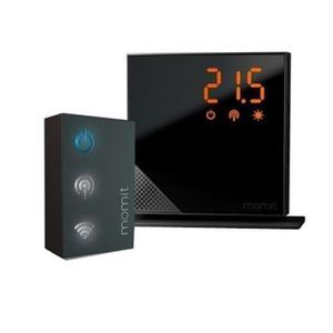 THERMOSTAT D'AMBIANCE MOMIT HOME Thermostat Starter Kit Pure Black conne