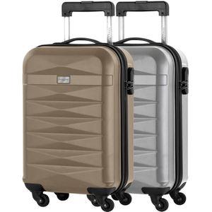 SET DE VALISES MANOUKIAN Lot de 2 valise cabine - ABS 4 roues - C