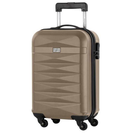 b4dddaa0a5 MANOUKIAN Lot de 2 valise cabine - ABS 4 roues - Champagne/argent Champagne  / Argent - Achat / Vente set de valises 3661954116857 - Cdiscount