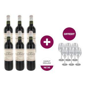 VIN ROUGE 6 bouteilles de vins CHÂTEAU LES GRANDS MARECHAUX