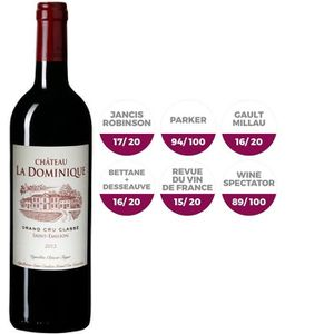 VIN ROUGE Ch La Dominique St Emilion Bordeaux 2013 - Rge