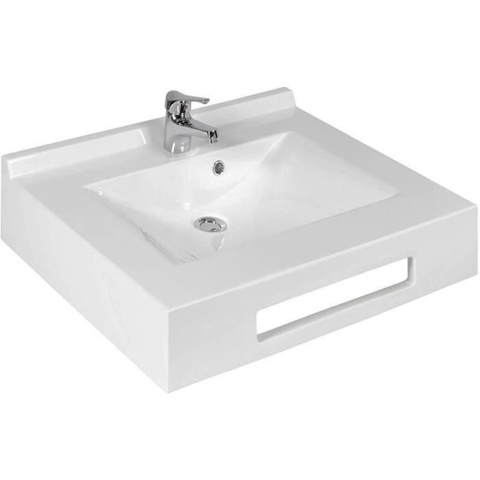 creazur plan vasque auto portant evidence blanc achat vente lavabo vasque plan vasque auto. Black Bedroom Furniture Sets. Home Design Ideas