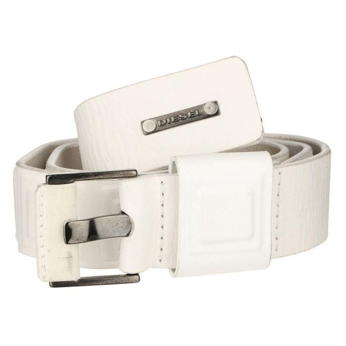 DIESEL Ceinture Femme Blanc - Achat   Vente ceinture et boucle ... 312406ba2b4