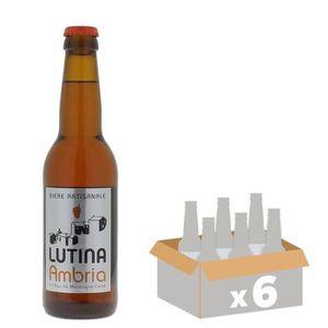 BIÈRE LUTINA AMBRIA Bière Ambrée - 33 cl x6 - 6 %