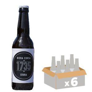BIÈRE LUTINA STORIA Bière Ambrée 1735 - 33 cl x6 - 4,5 %