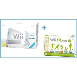 CONSOLE WII Wii Sports Resort Pack Blanc + Wii Fit Plus