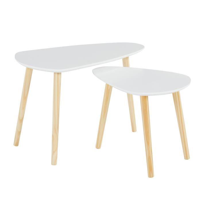 grande vente c9a40 95758 Table scandinave gigogne