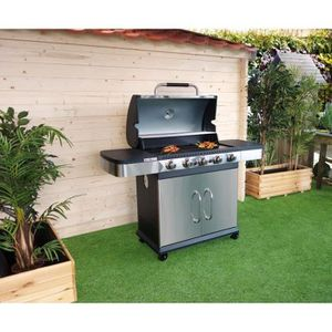 finest barbecue grill garden barbecue gaz brleurs fonte ma with barbecue exterieur couvert. Black Bedroom Furniture Sets. Home Design Ideas