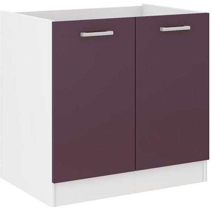Elements bas ultra meuble bas de cuisine sous évier l 80 cm a