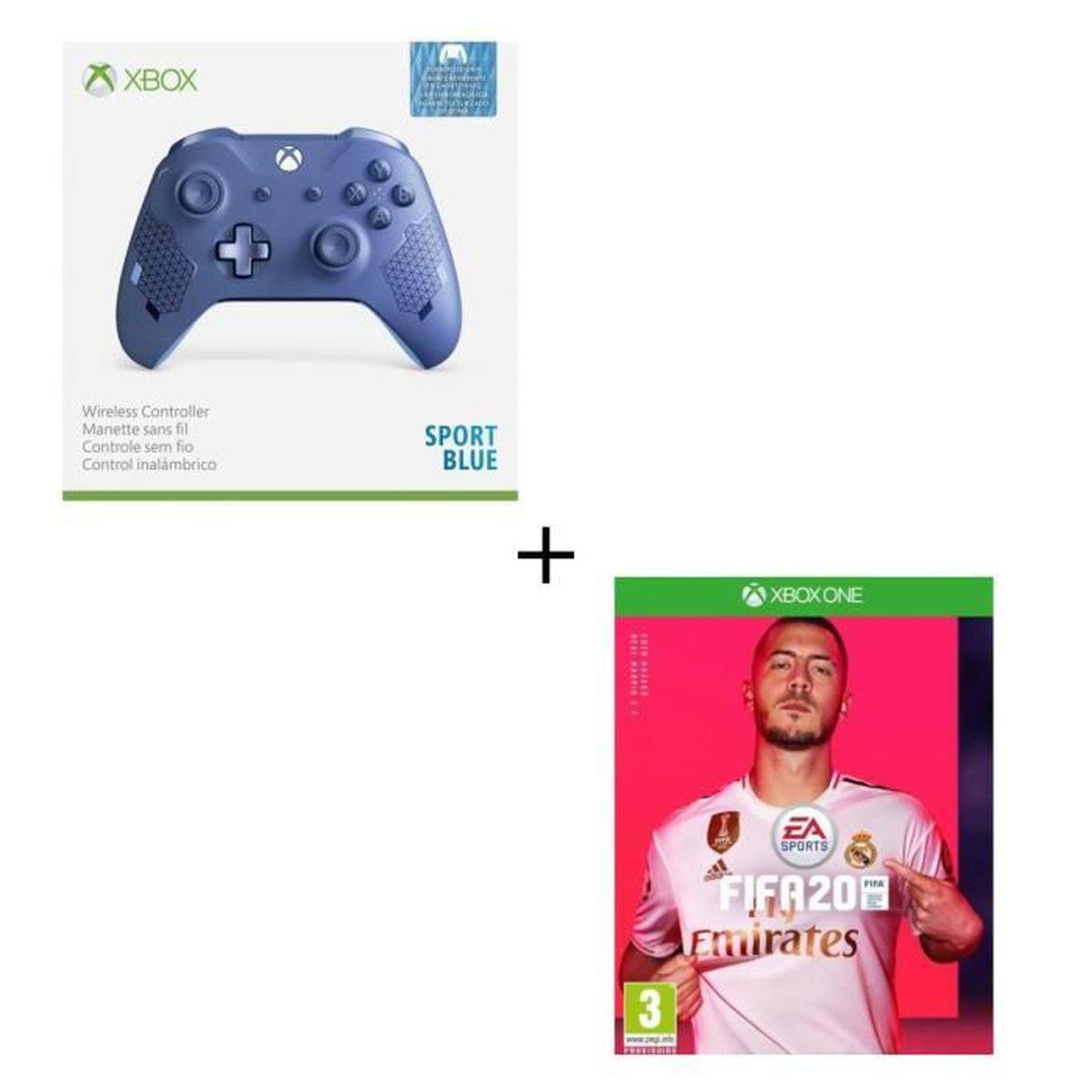 JEU XBOX ONE Manette Xbox Sans Fil Edition Spéciale Sport Blue