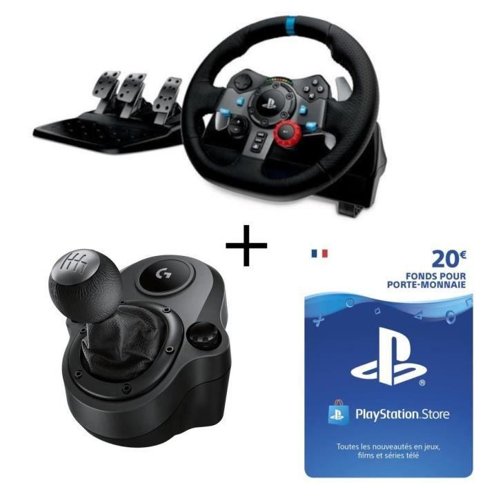 VOLANT PC Pack Logitech volant G29 pour PC et PS4 + Shifter