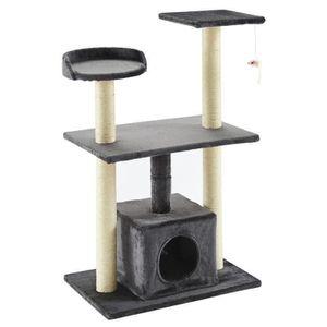 ARBRE À CHAT Arbre à chat Luigi - 60x40x95cm - Gris