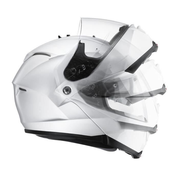 CASQUE MOTO SCOOTER HJC ISMAX II Casque Modulable Blanc