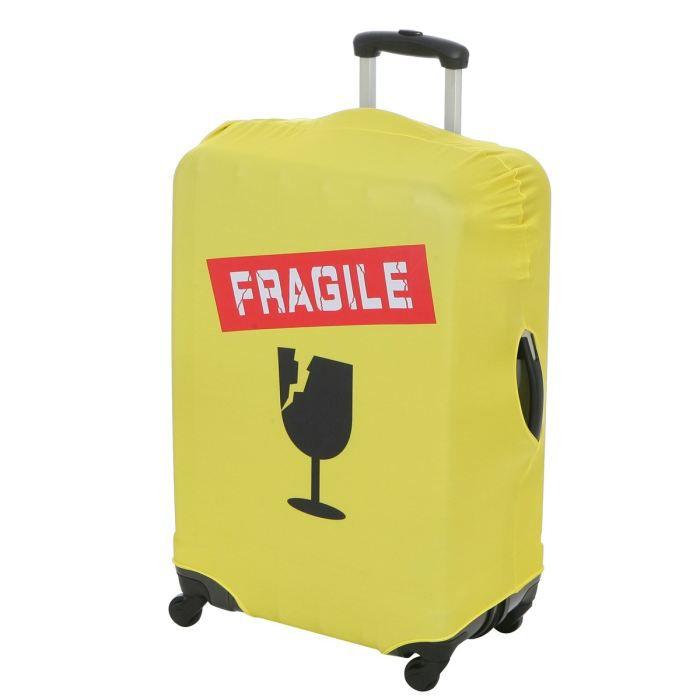 city bag housse de protection pour valise jaune achat vente housse pour valise 3661954009159. Black Bedroom Furniture Sets. Home Design Ideas