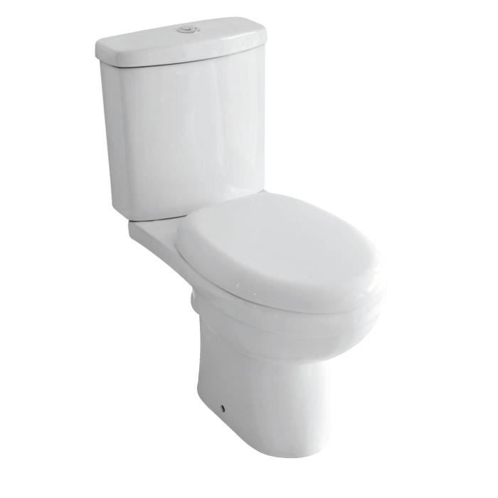 WC - TOILETTES Pack WC complet Melville en céramique blanc
