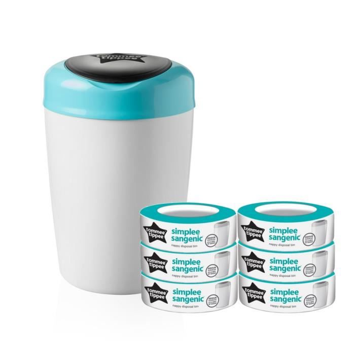 POUBELLE À COUCHES TOMMEE TIPPEE Starter Pack Sangenic SIMPLEE - 1 ba