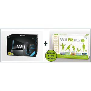 CONSOLE WII Wii NOIRE SPORT RESORT + Wii FIT PLUS