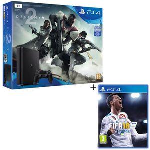 CONSOLE PS4 NOUVEAUTÉ Nouvelle PS4 Slim Noire 1 To + Destiny 2 Jeu PS4 +