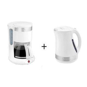 LOT APPAREIL PETIT DEJ Pack MOULINEX Principio Plus : Cafetière électriqu