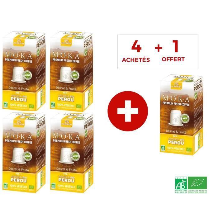 CAFÉ - CHICORÉE MOKA 50 capsules de café Arabica Pérou - Bio - Com