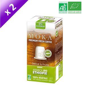 CAFÉ - CHICORÉE MOKA 10 capsules de café Arabica Ethiopie - Bio -
