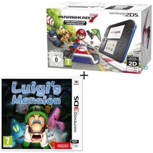 CONSOLE 2DS Console 2DS Bleue + Mario Kart 7 Préinstallé + Lui